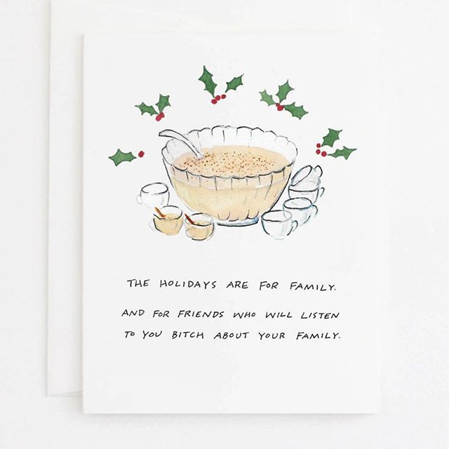 Ok wow, if there's one thing we learned from @iceatlanta and #cahabazaar last week, it's that the eggnog and bitching are flowing this holiday season. 😳 This card was a big hit! Order online by the 17th and you'll have it in time for Christmas. 🎄