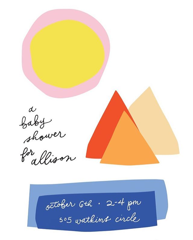 Breaking my Instagram hiatus with this adorably non-traditional baby shower invite I designed for my friend and partner in all things @partysally, Allison. She said it was unlike anything she'd seen before, and I'm pretty sure that's the highest compliment she could ever give me.