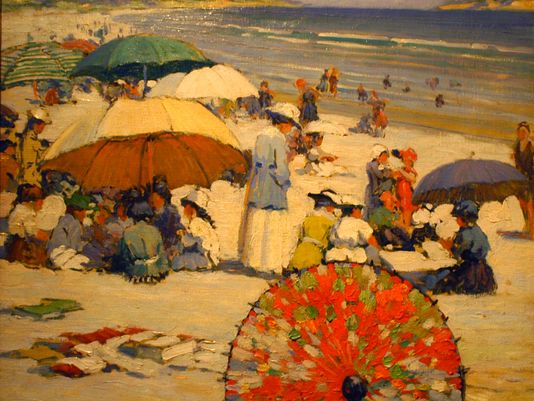 """The Red Parasol"" by Frederick Milton Grant  (Photo: Photo provided/Tom Shafer)"