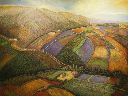Strade Bianche, Umbria, Al Pounders, oil on canvas Indiana Now 2016: The Bicentennial