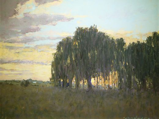 Willow Sunset, Carol Wasson, pastel Indiana Now 2016: The Bicentennial