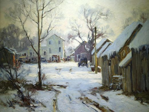 Scene from an Alley,  Will Vawter, oil  A Bicentennial Legacy, ArtSmart: Indiana