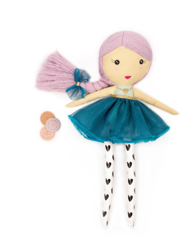 The Doll Kind  - For every doll purchased a doll is donated to a child less fortunate.  Each doll comes with tokens that are meant for children to give out as a way to spread kindness.