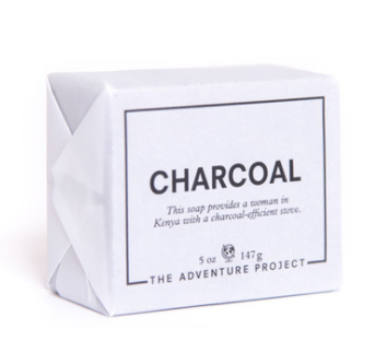 Adventure Project Charcoal Soap  - For every charcoal soap sold a woman in Kenya will receive a new charcoal-efficient stove.