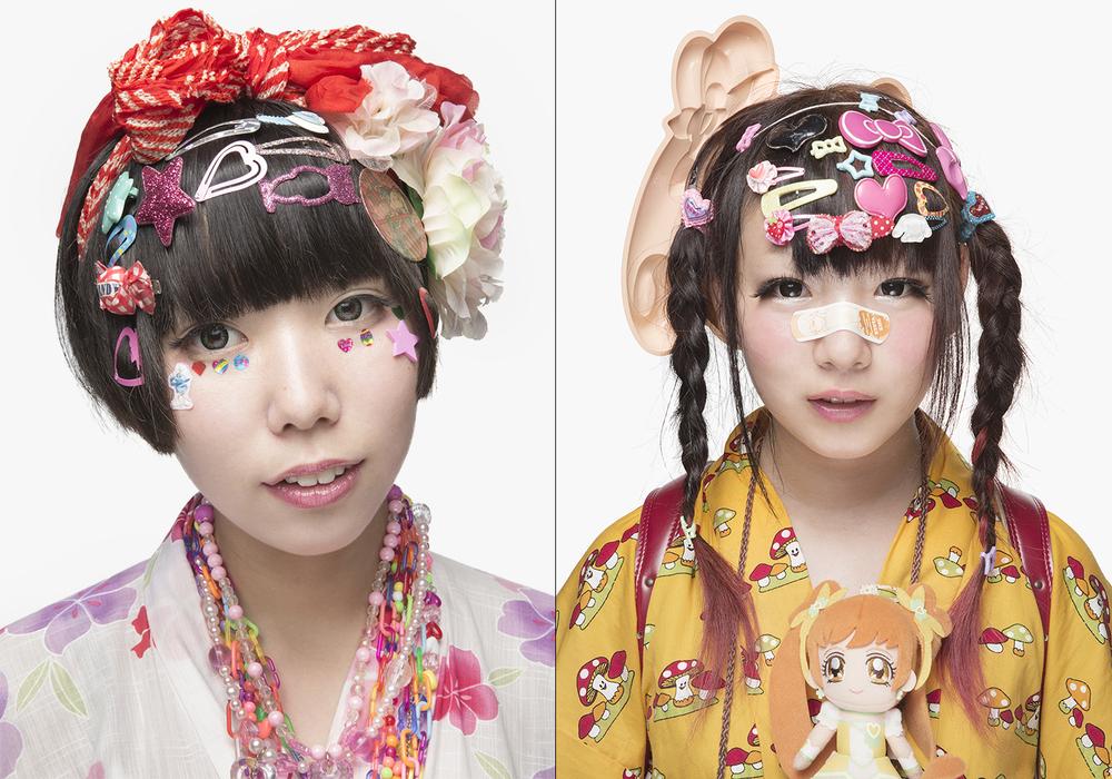 Decora girls, Tokyo, Japan.