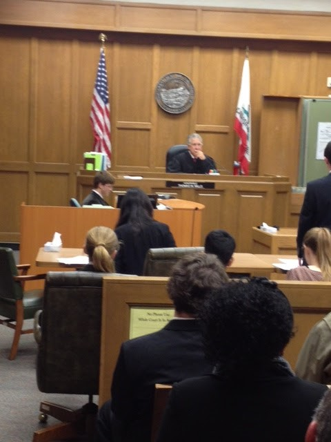 Mock Trial teams present their cases to real Judges!