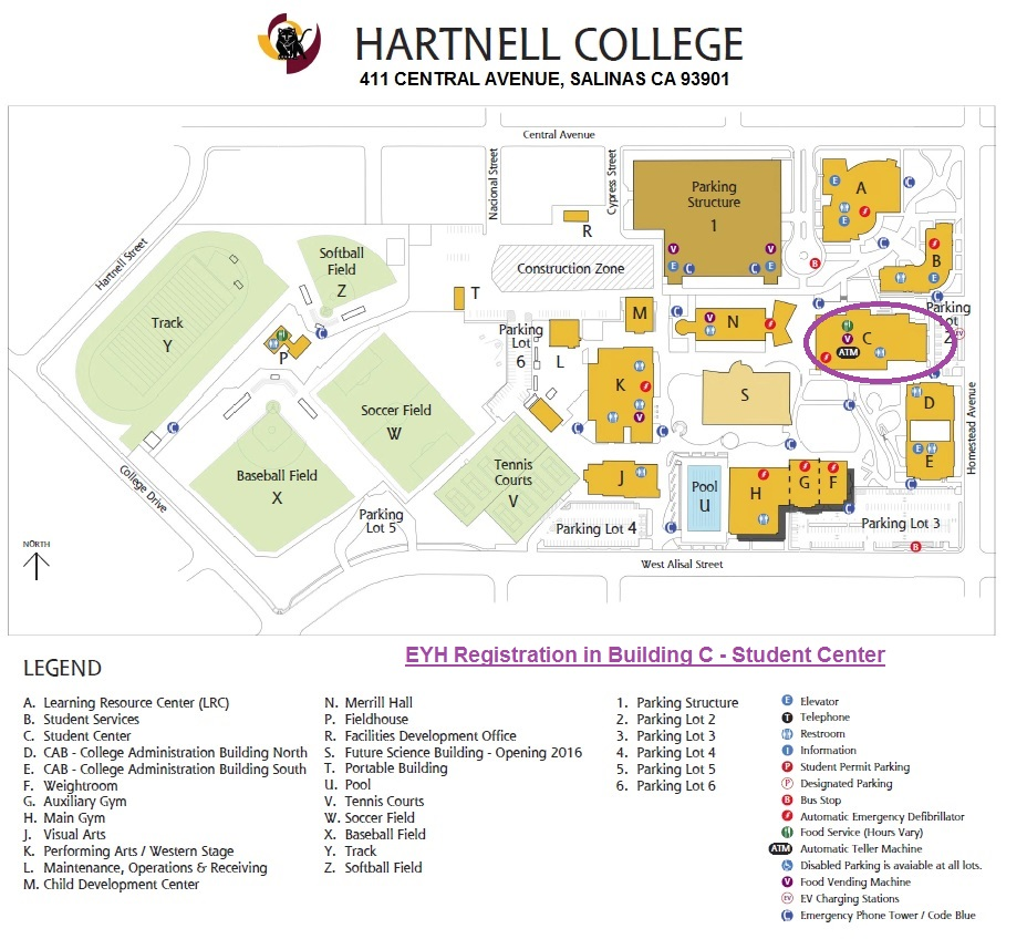Download Hartnell College map here