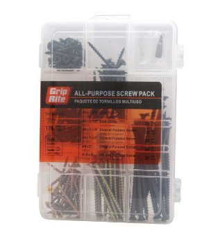 Assorted Indoor Use Screw Pack (170-Piece)