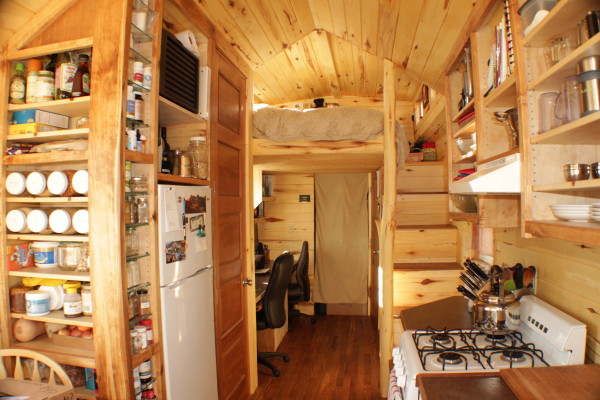 """Erin and Dondi's Off-Grid Tiny House"" as featured in Tiny House Blog (Photograph by Dondi and Erin Harner)"