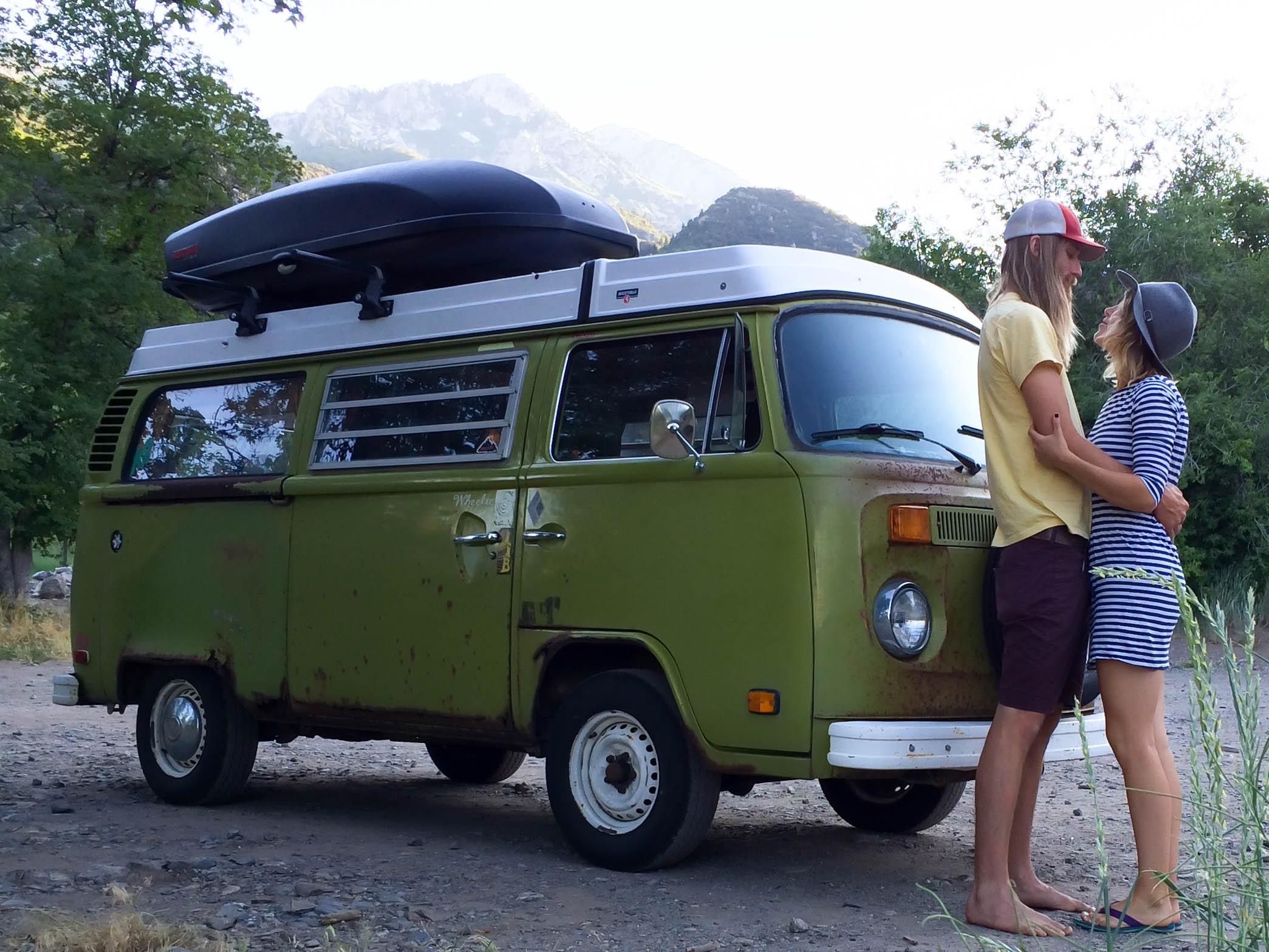 sarah matt in a vw bus tiny house tiny footprint rh tinyhousetinyfootprint com VW House Bus Interior vw bus birdhouse