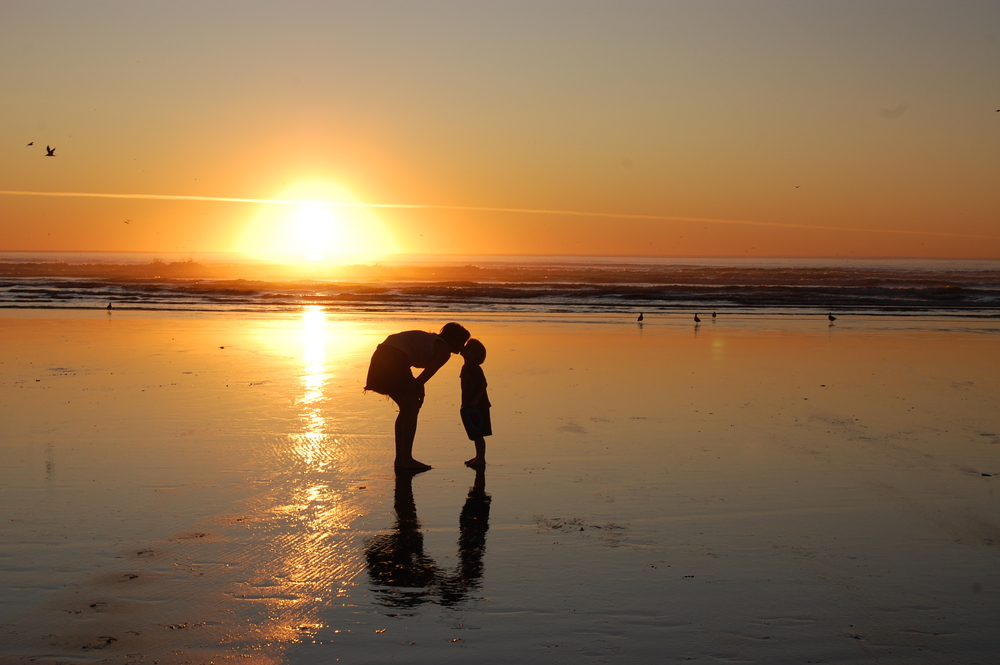 Sunset in Seaside, Oregon