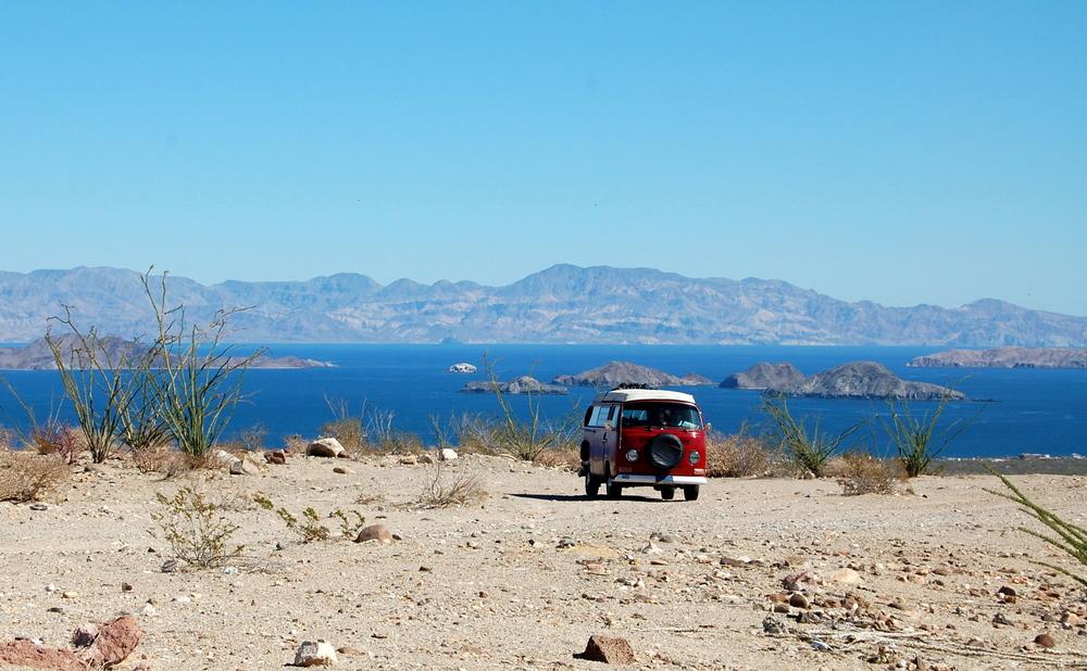 Exploring off road near Bahia de Los Angeles, Baja, Mexico