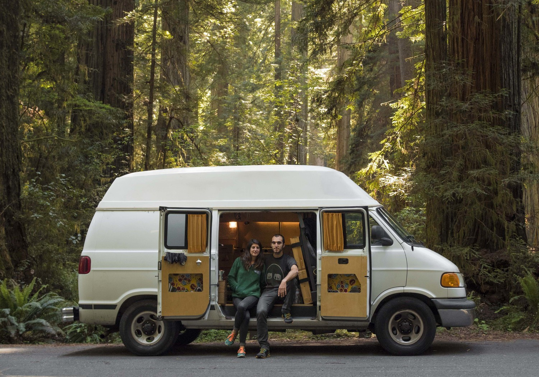 Eva & Victor in a Dodge Ram Van — Tiny House, Tiny Footprint