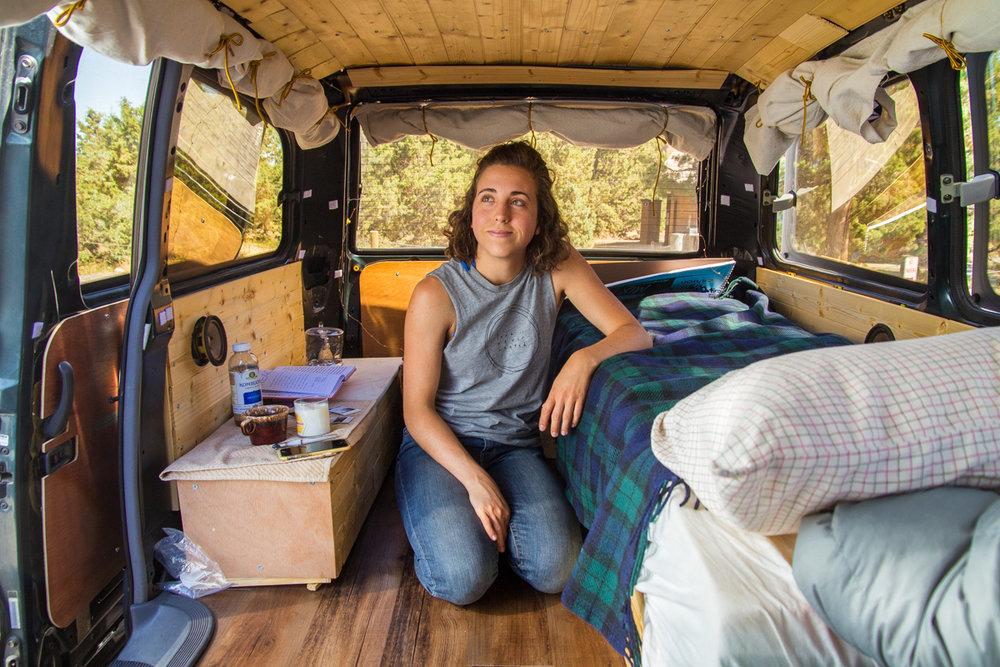 Amanda In A Toyota Van Tiny House Footprint