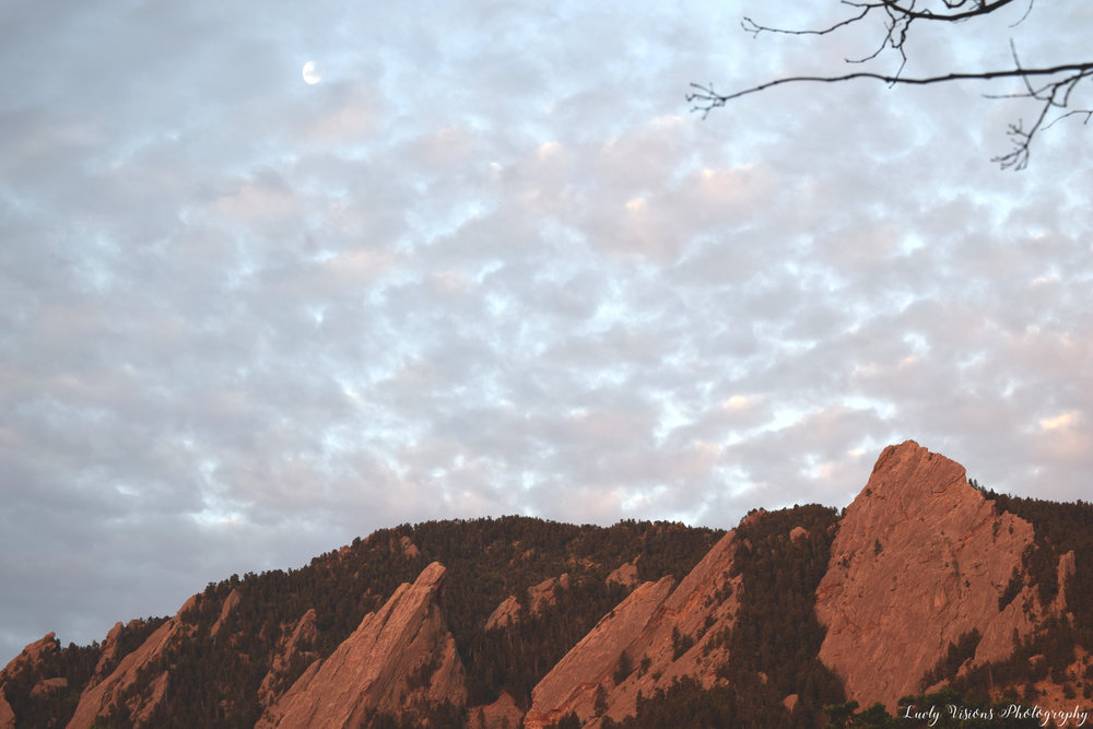The Flatirons in Boulder, Colorado.