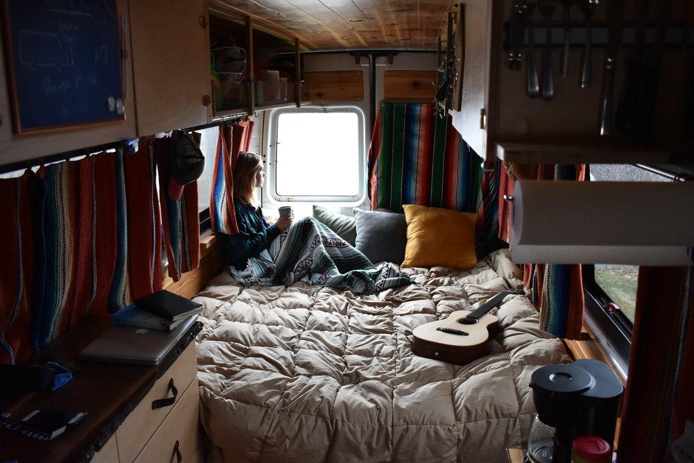Pete Amp Taylor In A Sprinter Van Tiny House Tiny Footprint