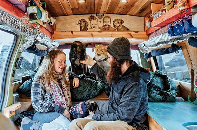 Jayme + John not share a small space together, but they also have three dogs that go everywhere with them. They've been living in their Chevy van for the past year and have been transparent about the less glamorous aspects of life on the road. Through their websites, one of them being Gnomad Home, they've funded their travels. They are dedicated leaders in the vanlife community, offering resources and co-hosting the first-ever Midwest Vanlife Gathering May 18-20 in Missouri. Find out why they left their 2,100-square-foot home, jumped into a van and how they are giving back to the land we all travel on. (link in bio) 📷 @gnomad_home