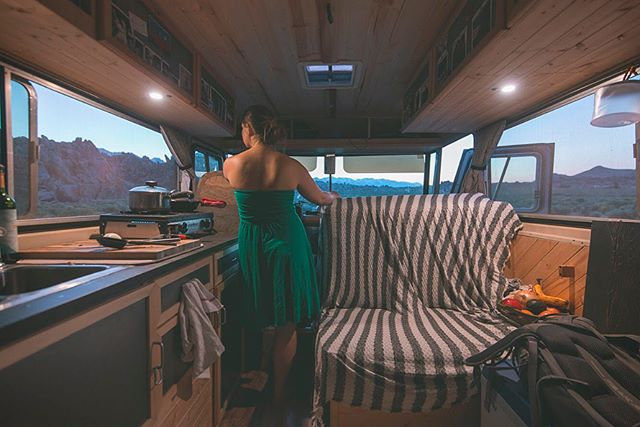"""Don't deny yourself the chance to struggle and figure things out."" Amanda and her boyfriend Matt live by this motto in their 1964 Clark Cortez Motorhome. After living out of a backpack for several months before #vanlife, this rig feels like a palace. They can stand up and cook their meals inside. The large windows allow them to never miss a sunrise or sunset. And they are able to travel with the seasons, falling in love with places they never expected. But it doesn't come without hardships and they've learned to always check in to make sure they are happy in this nomadic experience. Learn more about Amanda + Matt in today's blog post and meet them in person next month at our Vanlife Gathering in Teton Valley. (link in bio) 📷 @van.project"