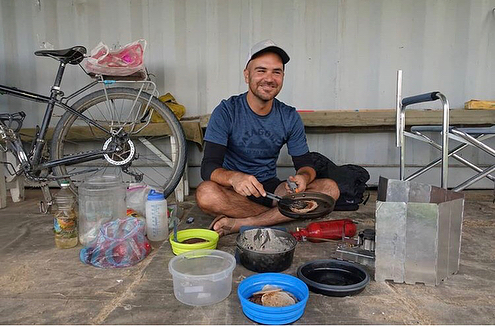 "It is with a heavy heart that I share the news of Jay Austin. I interviewed Jay back in 2015 when he was living in a tiny house in Boneyard Studios. Jay and his partner Lauren, both 29, quit their jobs a year ago to bike around the globe. On Sunday, they were killed in an attack in Tajikistan. Jay was a gracious individual, an advocate for sustainable, simple living. I am sharing his post this week as a tribute to Jay and the work he has done in the community. This quote from Jay has stuck with me, ""Fear and inertia are dangerous when they keep us stalling—keep us from doing the things we want to do."" (link in bio) 📷 @simplycycling"