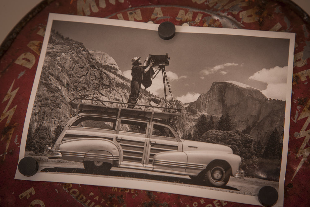"""Being a son of a mechanical engineer I remember having an analytical eye on the mechanics of things.  While In college studying commercial photography I was able to continue honing in my creative eye and the technical aspects of photography.  I was to exchange an art history class with for an independent photo study of the world famous photographer Ansel Adams while putting strict focus on his specialized technique, The Zone System.  Truly inspired by this innovative process of working with large format film, detailed exposure indexing, scientific-mathematical film development and specialized printing techniques. © Ansel Adams biography photos shown"
