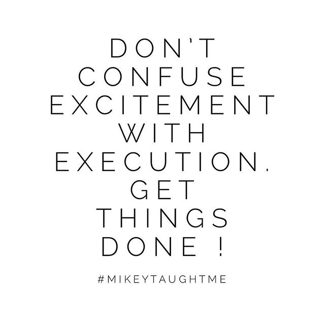 I've learned that if we use that excitement to actually plan things out you'll always get further !  Harness that energy for hours and hours of meticulous brainstorming... because everything is exciting until the work shows up !