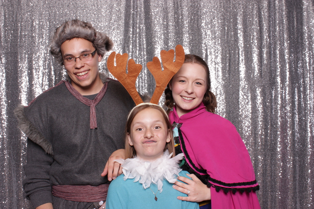 Two frozen characters and their trusty reindeer hopped into the photo booth :D