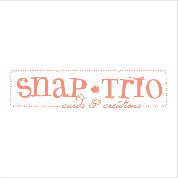 snap trio logo design graphic