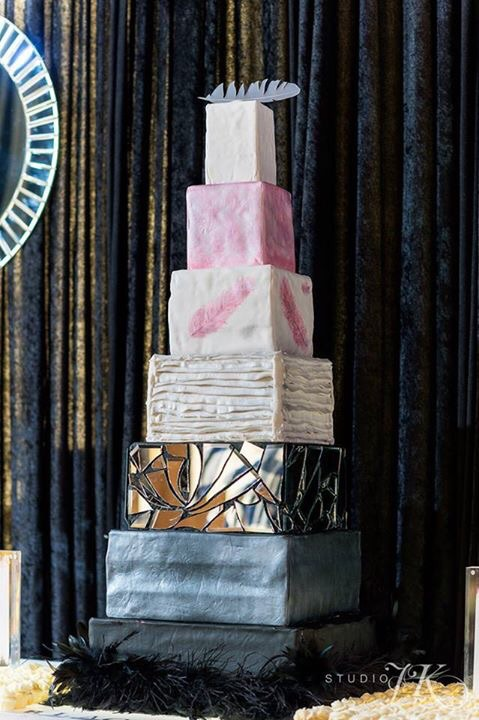Photo by Studio JK Photography, Cake by Cupcake Libations, Cake Topper by Platypus Papers