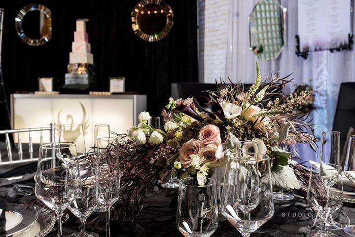 Photo by Studio JK Photography, Table Concept Design and Floral by Pro Chic Events, Tableware by AllWell Rents, Cake by Cupcake Libations, Co-Direction by Platinum Weddings and Events-Denver