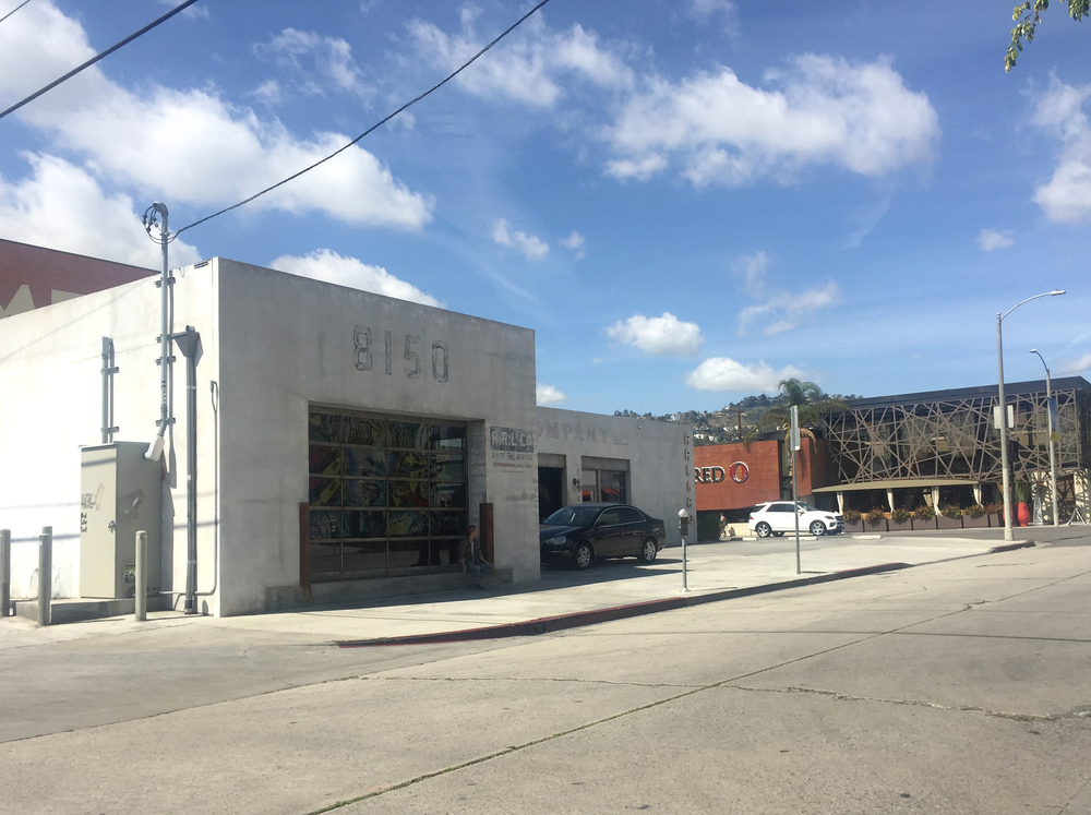 Exterior shot of RRL on 8150 Melrose Avenue, Los Angeles CA.