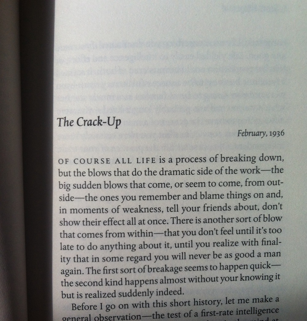 The Crack Up by F. Scott Fitzgerald