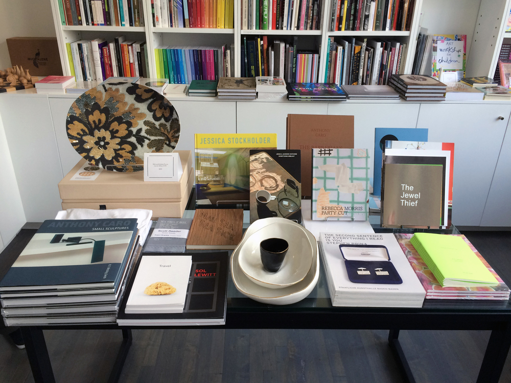 Books by and about artists Laylah Ali, Polly Apfelbaum, Anthony Caro, Jessica Jackson Hutchins, Sol LeWitt, Rebecca Morris, Stephen Prina, Kay Rosen, Haim Steinbach, and Jessica Stockholder at our bookstore, editions | Kavi Gupta, 835 W. Washington Blvd., Chicago.