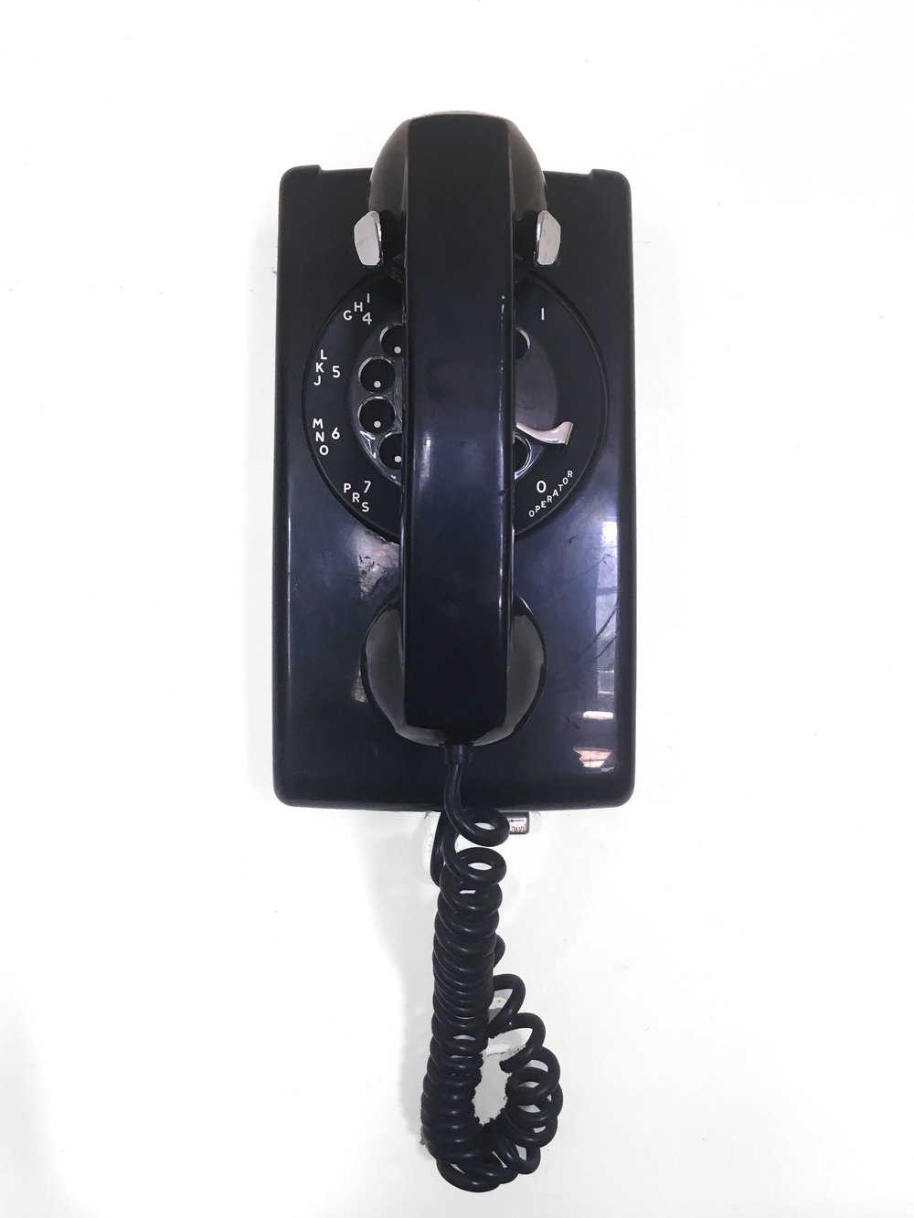 Vintage Black Wall Phone (80's)