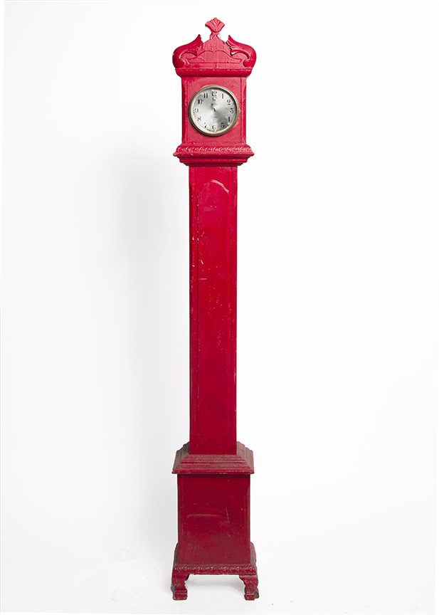 Red Standing Clock