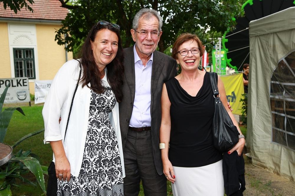 Monika Langthaler-Rosenberg mit Alexander van der Bellen und Doris Schmidauer © Martin Hesz