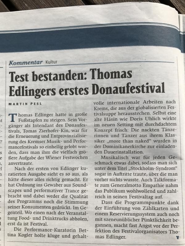 Mein Resümee zum Donaufestival im Falter 19/17