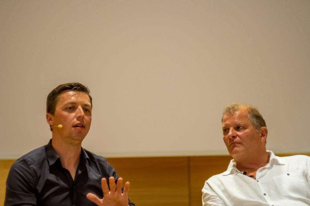 Martin Grubinger und Martin Kušej © Andrei Pungovschi