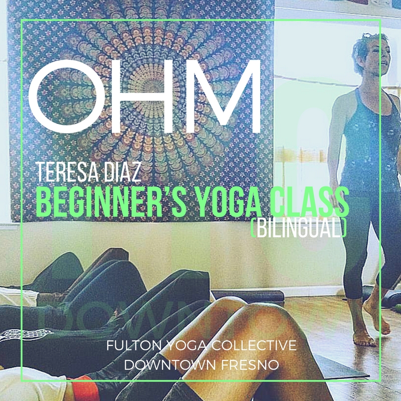 English and Spanish speakers, grow your inner smile with us! Learn Yoga basics or master introductory Yoga knowledge in Teresa's signature 75 minute Bilingual Flow. Everyone, including you advanced Yogis, will reconnect with your bodies and get back to the foundational principles of each transformative Asana.  $15/class includes your Mat Rental.