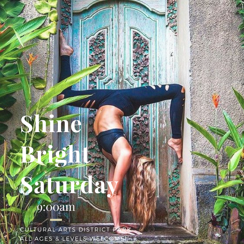 SHINE BRIGHT SATURDAY - YOGA IN THE PARK - Open up and breathe with us at our donation-based/FREE outdoor Yoga classes.Saturdays 9:00AM - 10:00AMWinter Break: December 2, 2018 - March 2, 2019Get in touch with your body rhythms as we bask in the Sun at this community Yoga practice, being held at the beautiful new Cultural Arts District Park, located directly across the street from FYC in Downtown Fresno.This Yoga class is open to the public, donation-based/free, and the first 15 attendees will have your yoga mat provided. Beginners are welcomed and encouraged. Bring the whole family, kids are invited to participate. ♡*Please note, if weather is a concern or you arrive and do not see our beloved instructor, class will be held indoors at our beautiful studio located at:1612 Fulton St #103, Fresno, CA 93721When you arrive, you will find the lobby open and us awaiting your honored presence.
