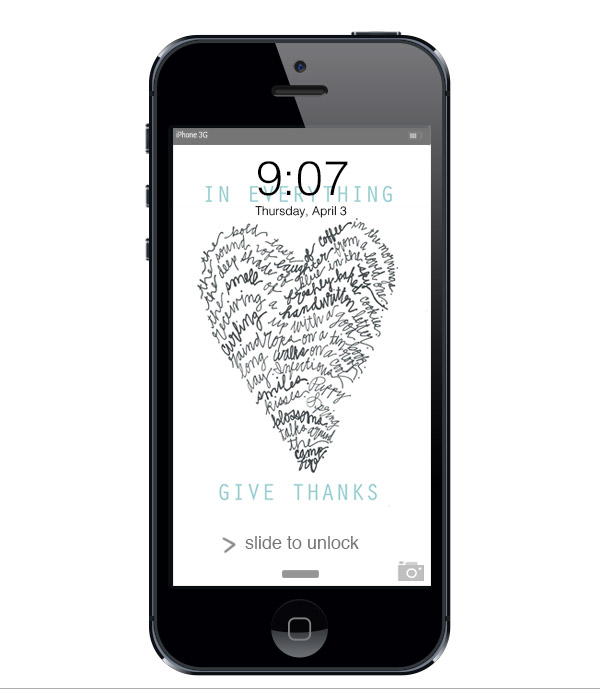 In Everything Give Thanks :: click here to download phone wallpaper ::