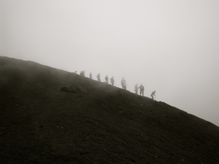Climbing a volcano in Guatemala. Not Mt. Everest.