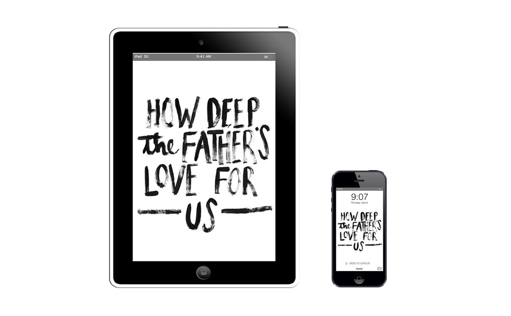 How Deep the Father's Love for Us :: click here to download tablet wallpaper :: :: click here to download phone wallpaper ::