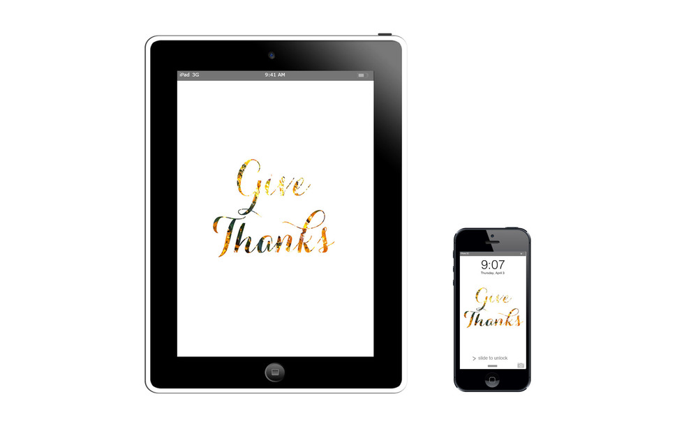 Give Thanks :: click here to download tablet wallpaper :: :: click here to download phone wallpaper ::