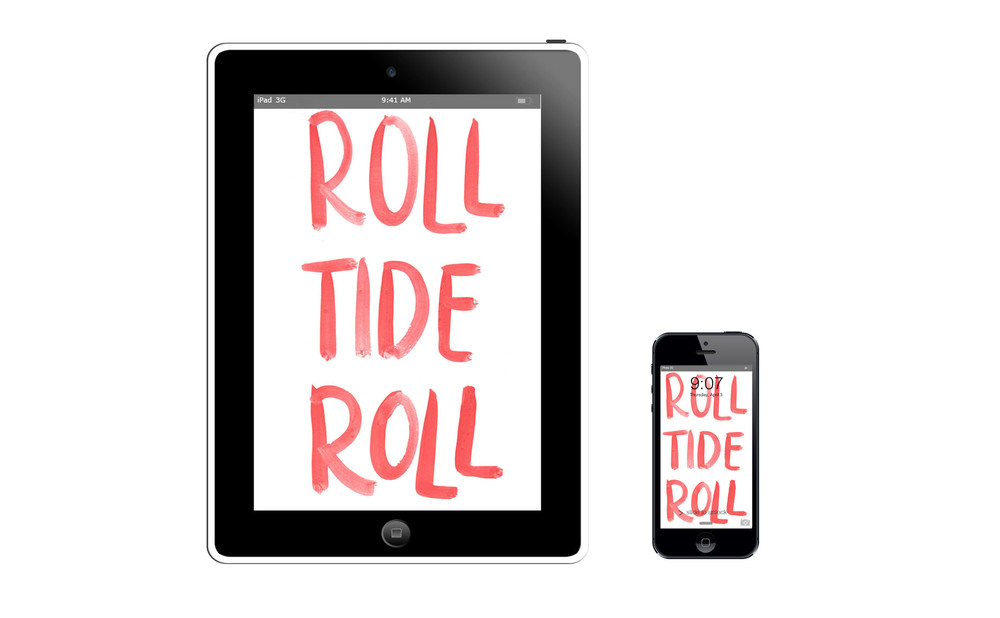 Roll Tide Roll :: click here to download tablet wallpaper :: :: click here to download phone wallpaper ::