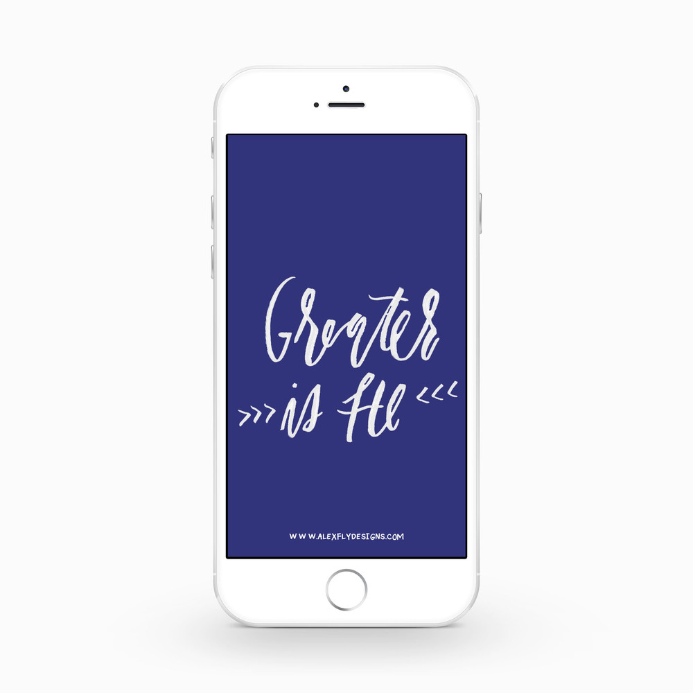 Greater is He :: click here to download phone wallpaper ::
