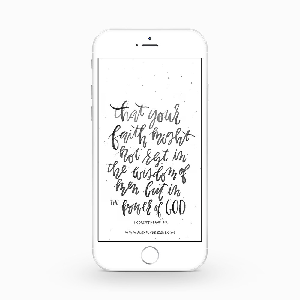 1 Corinthians 2:5 :: click here to download phone wallpaper ::