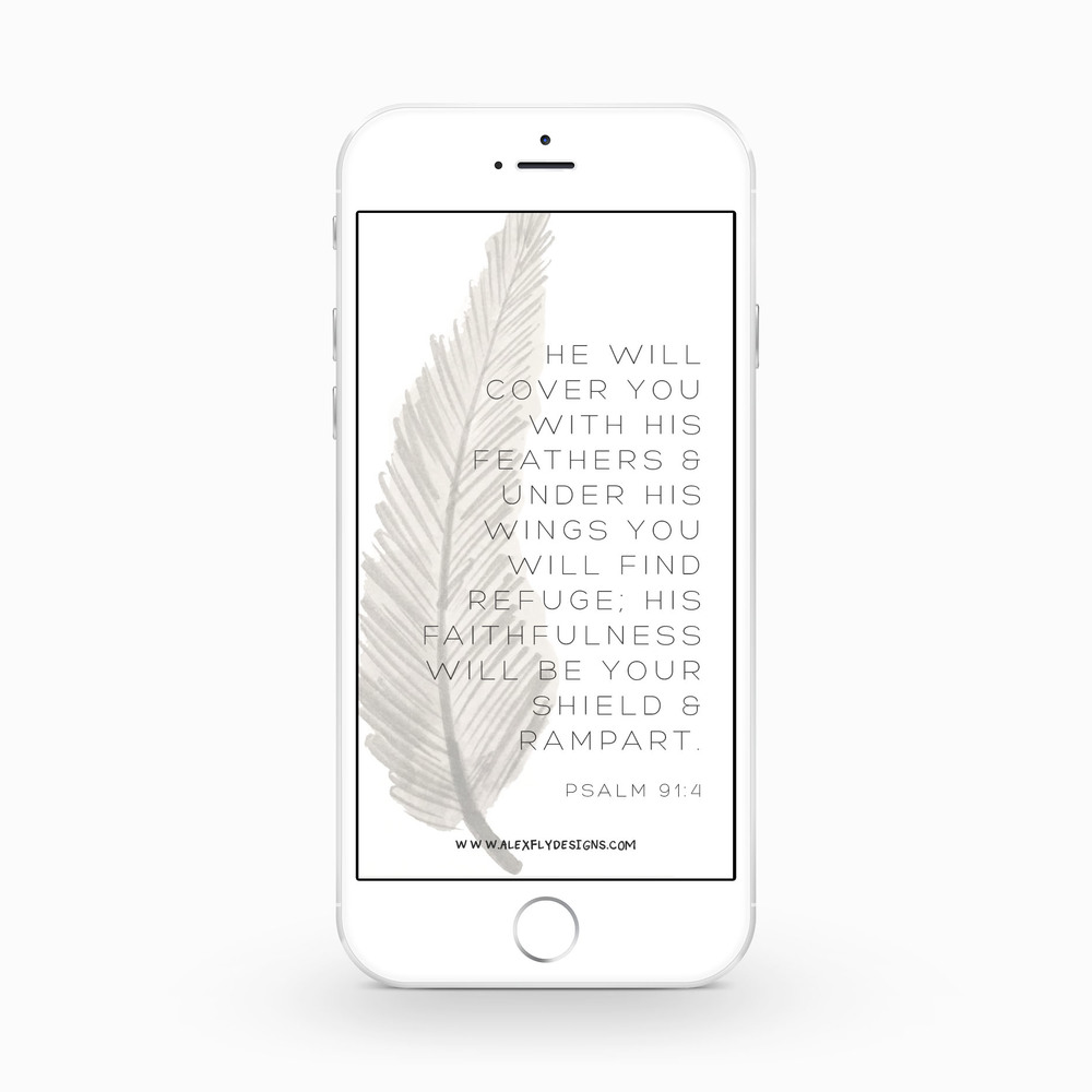 Psalm 91:4 :: click here to download phone wallpaper ::