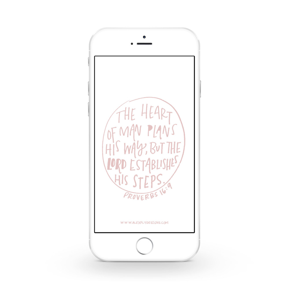 Proverbs 16:9 :: click here to download phone wallpaper ::