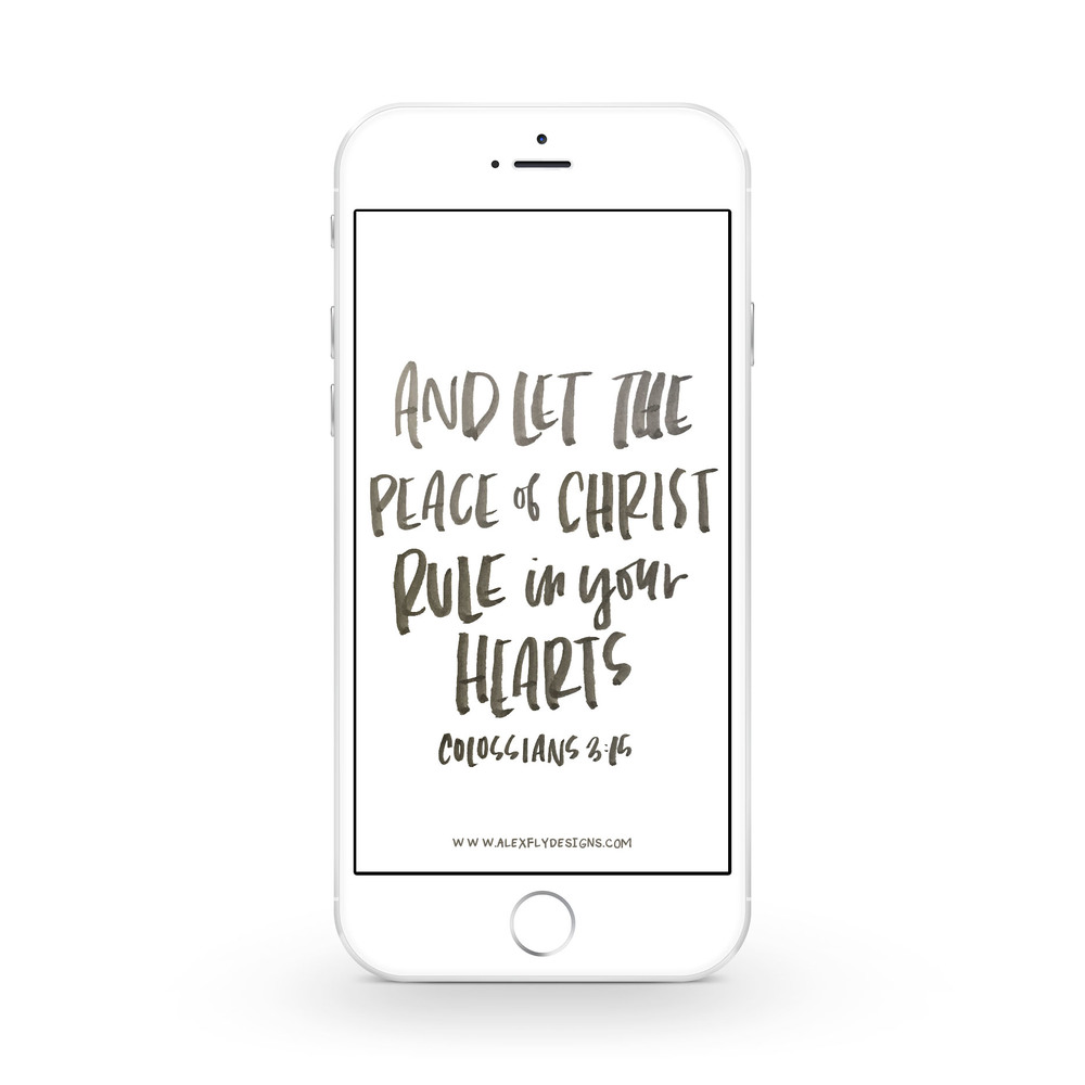 Peace of Christ :: click here to download phone wallpaper ::