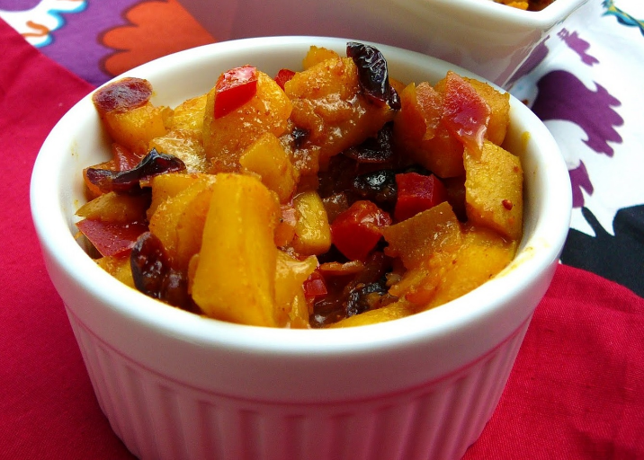 Caribbean Baked Curried Fruit
